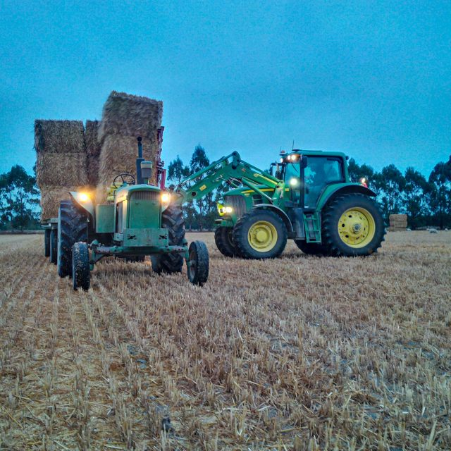 Loading and Carting Wheat straw with the original 3020