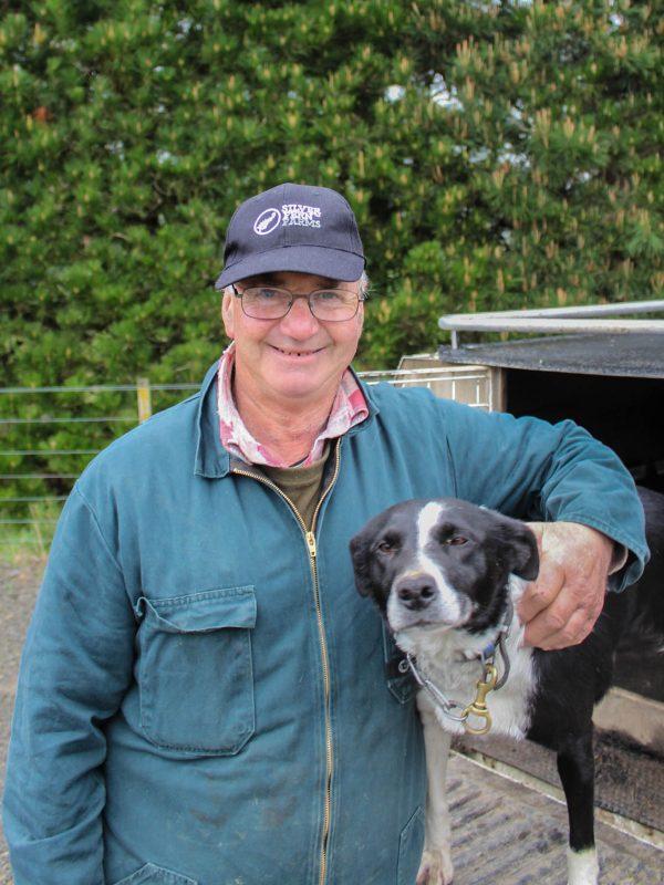 Pat Wiseman and sheep dog